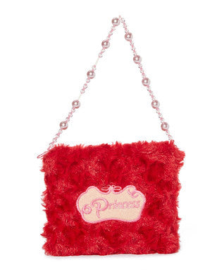 Red Princess Pearl Velvet Purse