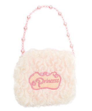White Princess Pearl Velvet Purse