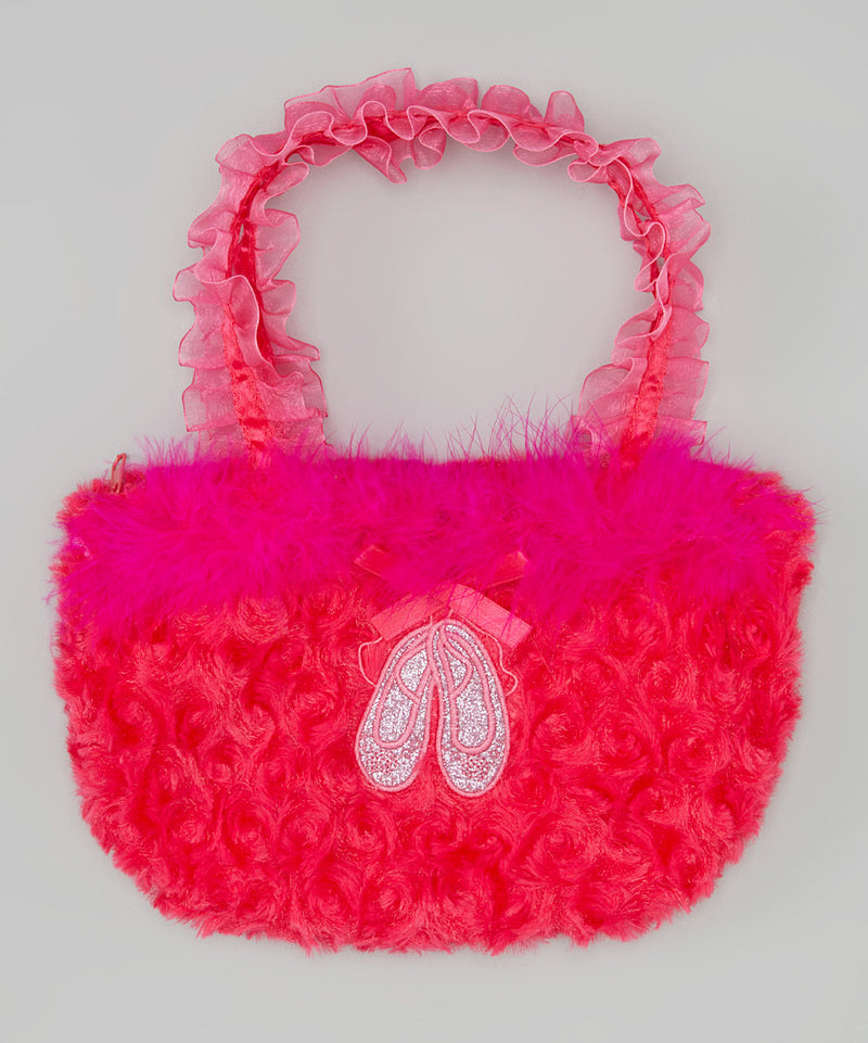 Hot Pink Ballet Shoe Velvet Purse