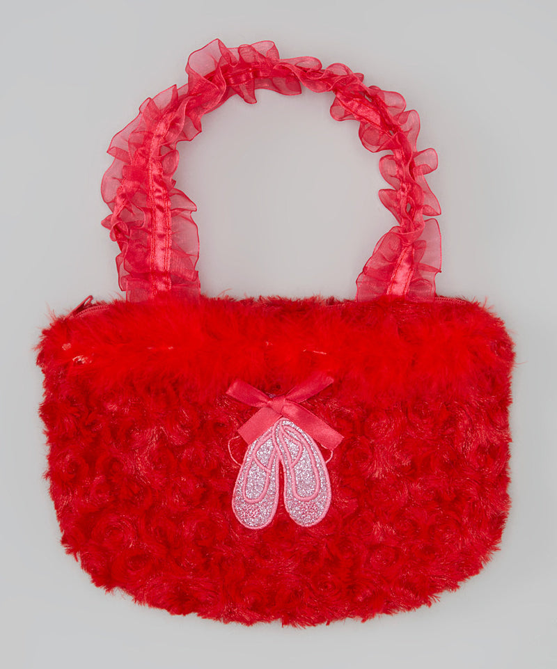 Red Ballet Shoe Velvet Purse