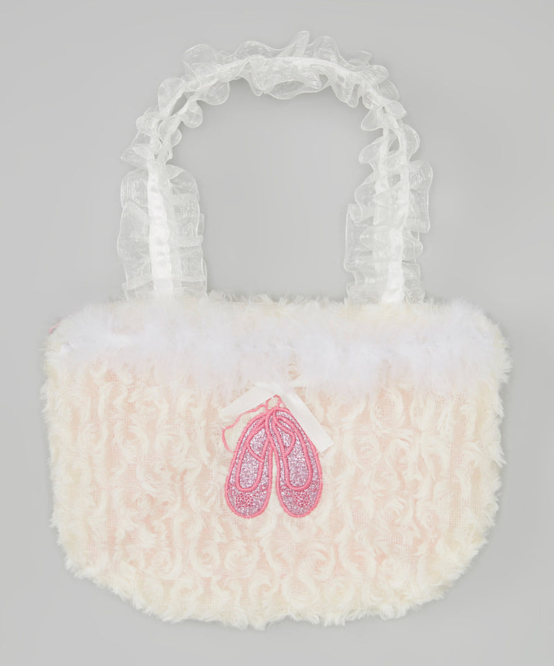 White Ballet Shoe Velvet Purse