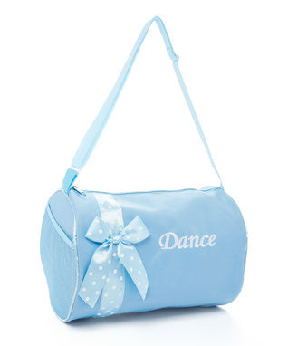 Blue Polka Dot Bow Blue Dance Bag