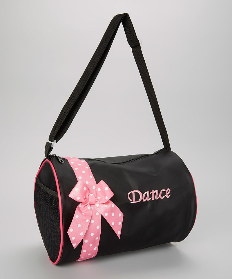Pink Bow Black Dance Bag