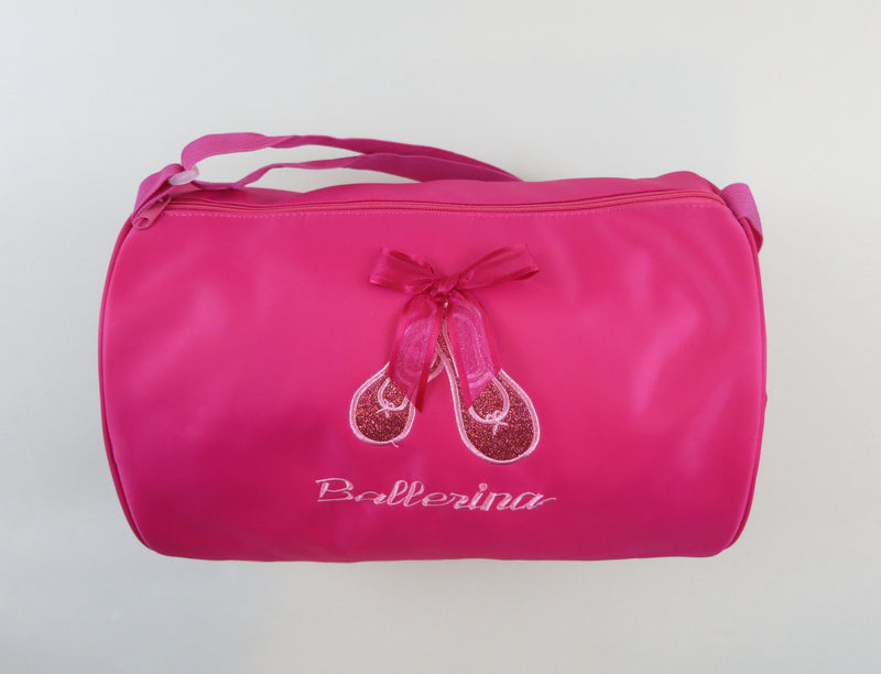 Hot Pink Sparkle Ballet Shoe Duffel
