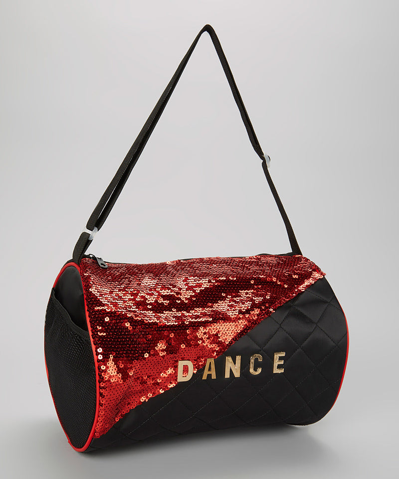 Black / Red Sequin Dance Duffel