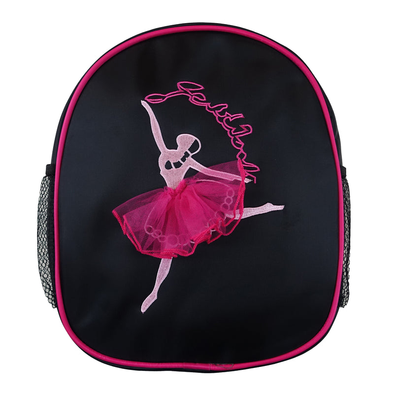 Black Back Pack With Hot Pink Ballet Girl