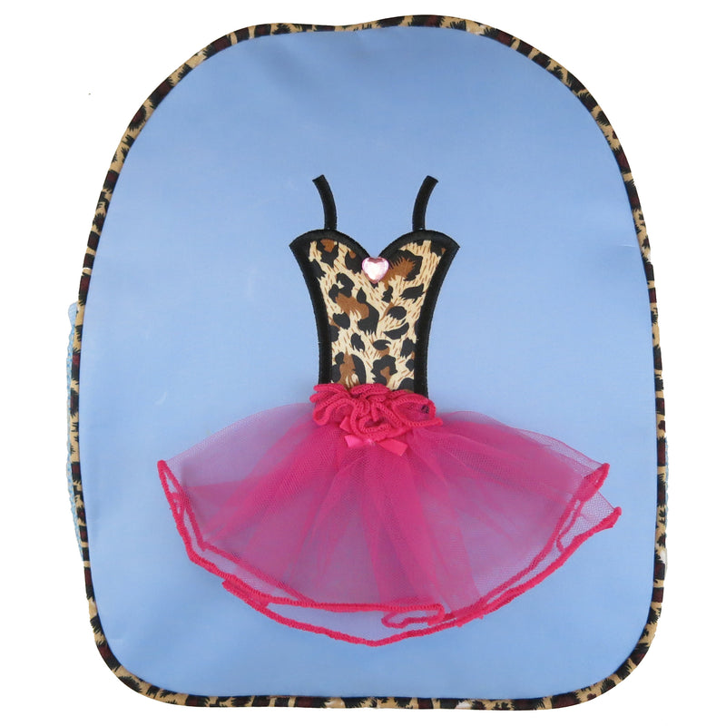 Blue Back Pack With Leopard Tutu