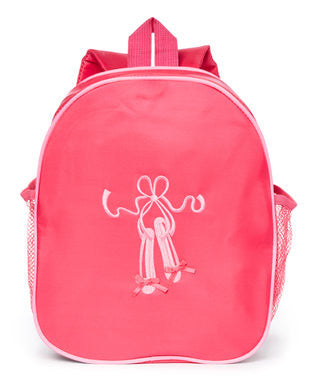 Hot Pink Back Pack With Pink Ballet Shoe