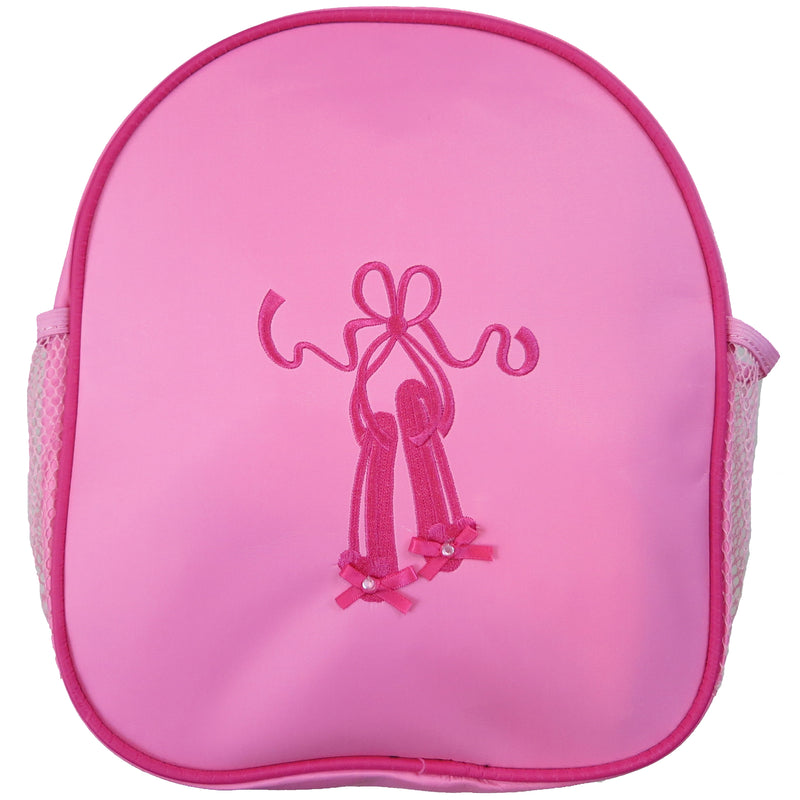 Pink Back Pack With Pink Ballet Shoe