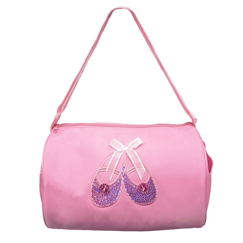 Pink Rhinestone & Sequins Ballet Shoes Duffel