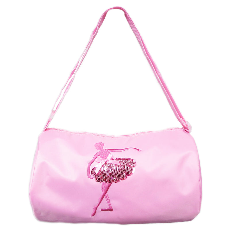 Pink Sequins Dance Girl Duffel