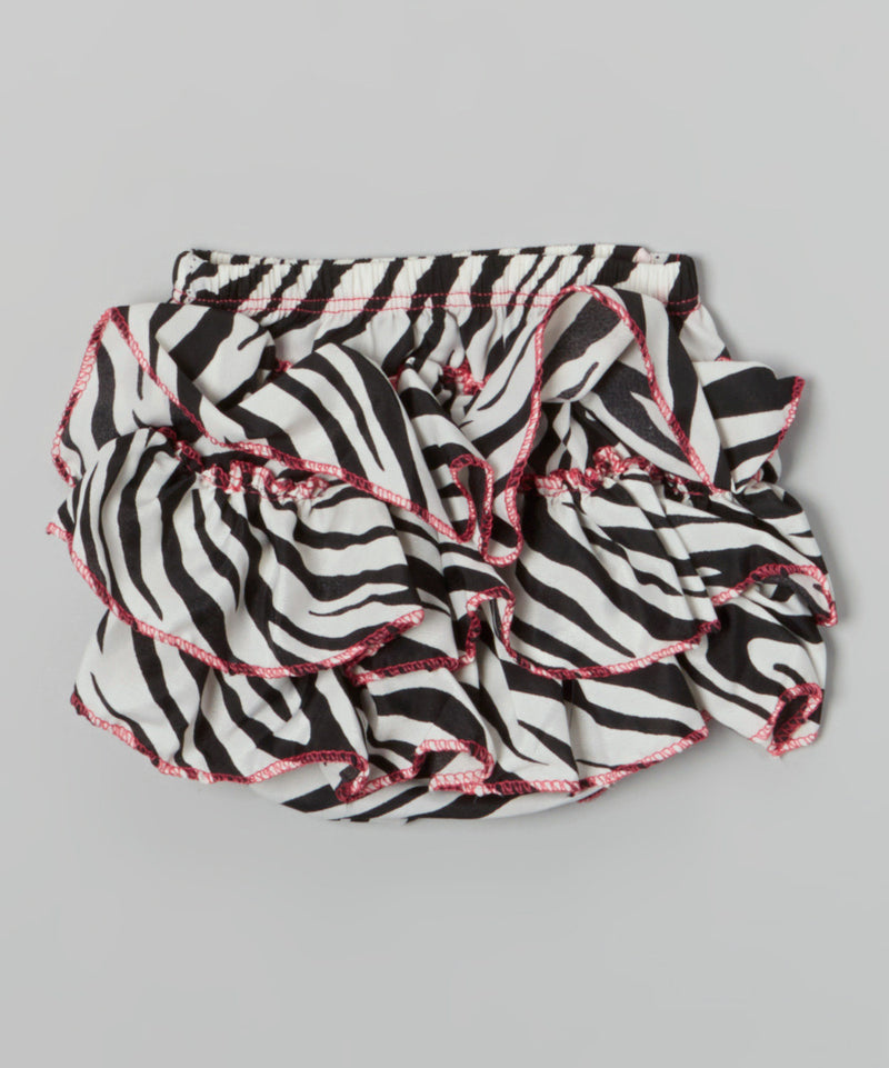 Zebra Satin Bloomer