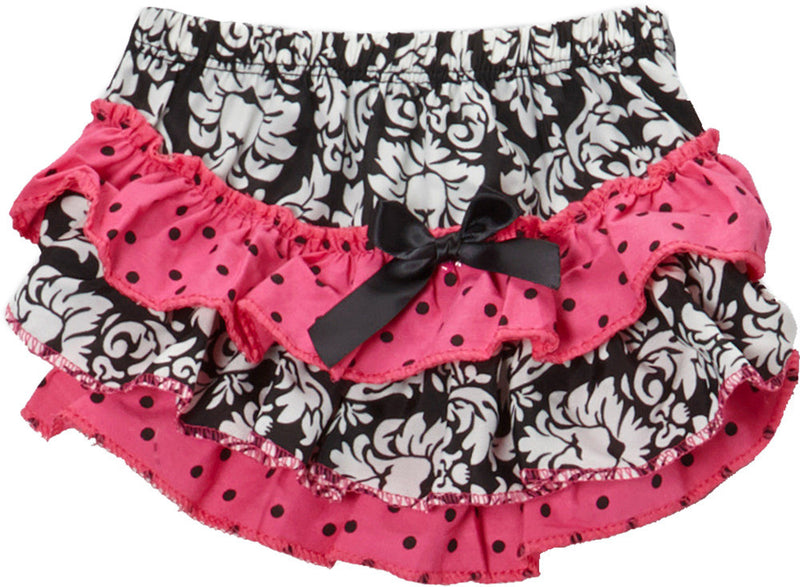 Damask/Hot Pink Polka Dot  Bloomer