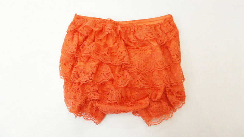Orange Lace Bloomer