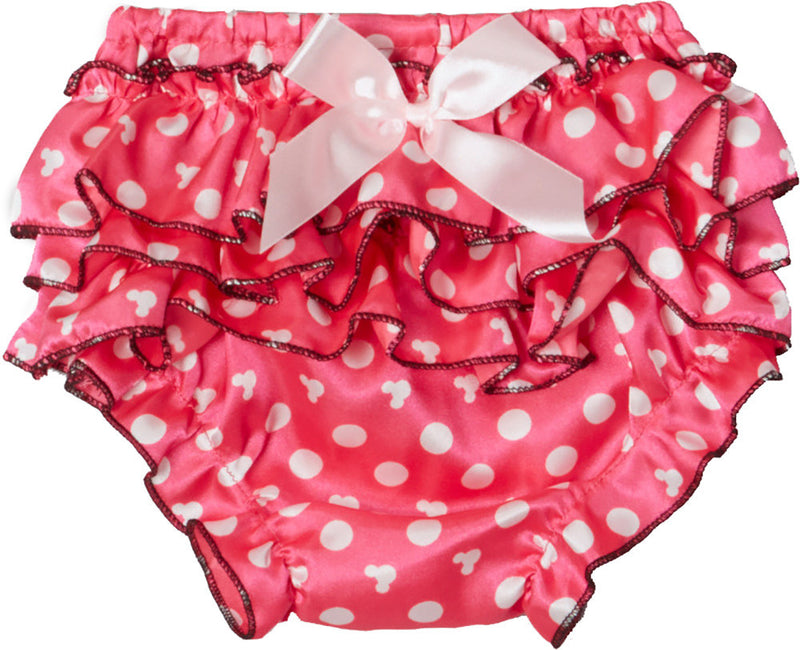 Pink/White Dot Face Satin Bloomer