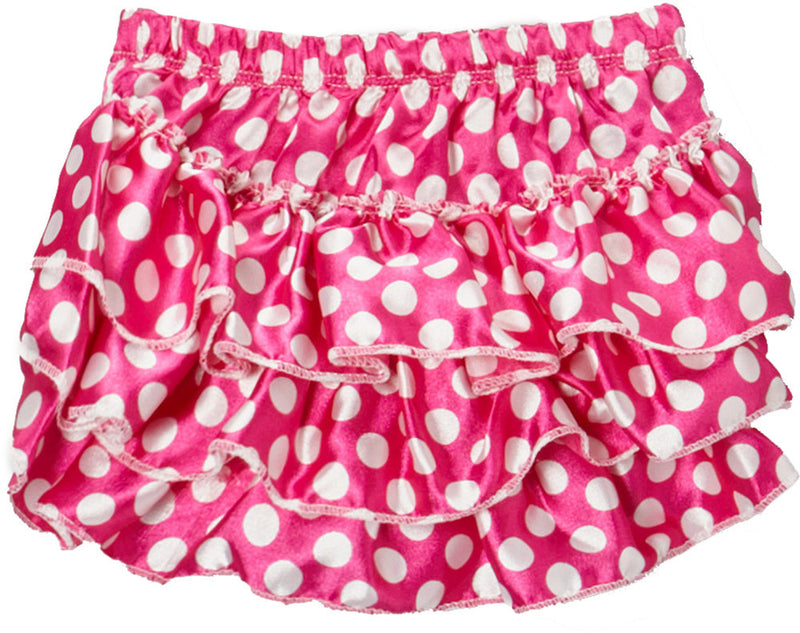 Pink/White Dot Satin Bloomer
