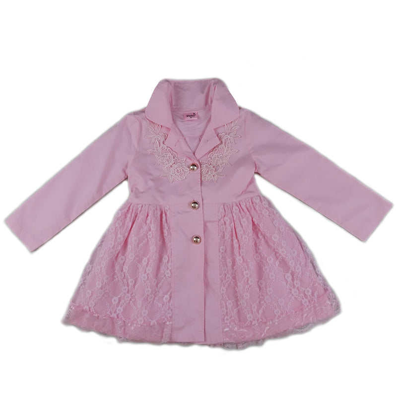 Pink Lace Wind-Resistant Coat