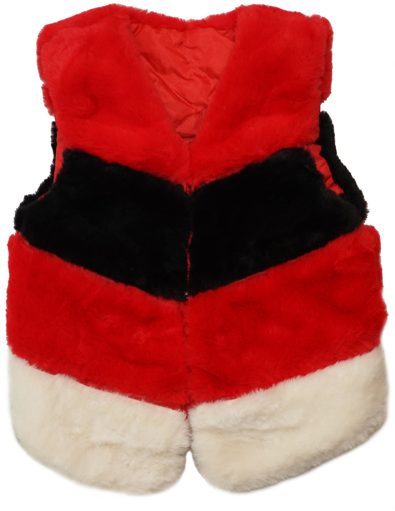 Red/Black/White Plush Vest