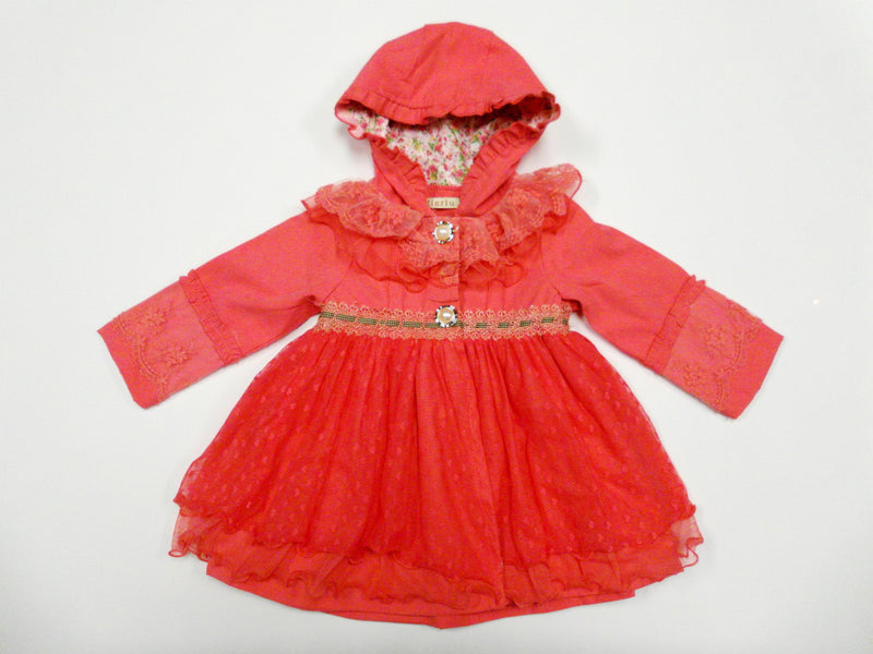 Red Lace Hood Coat