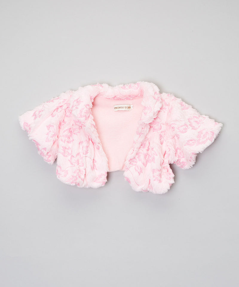 Pink Short Coat With Pink Leaves
