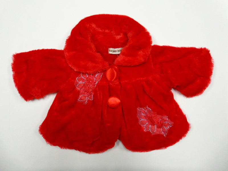 Red Flower Long Sleeve Coat