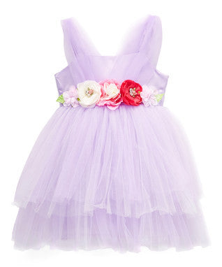Lavender 3-D Flower Dress