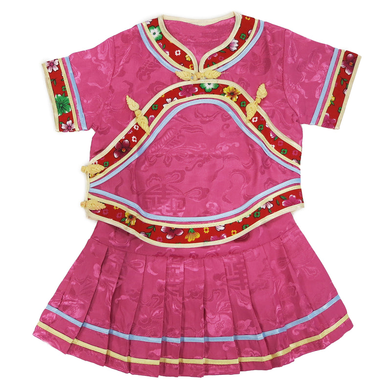 Hot Pink Chinese Retro Style 2 Pieces Set