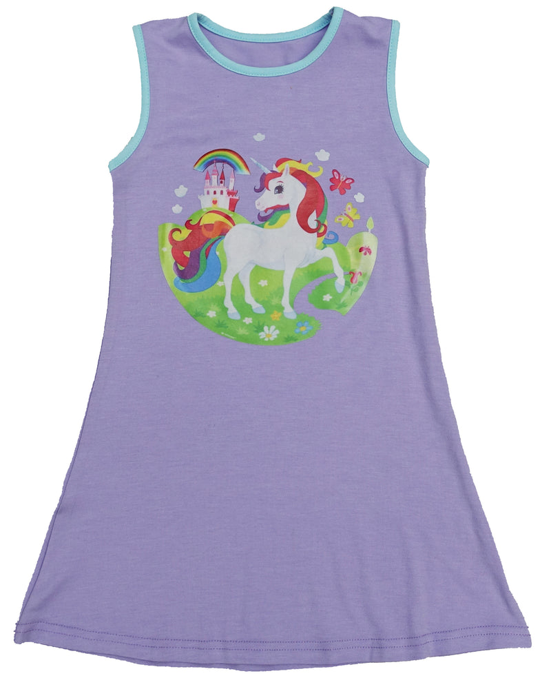 Lavender Unicorn Cotton Dress