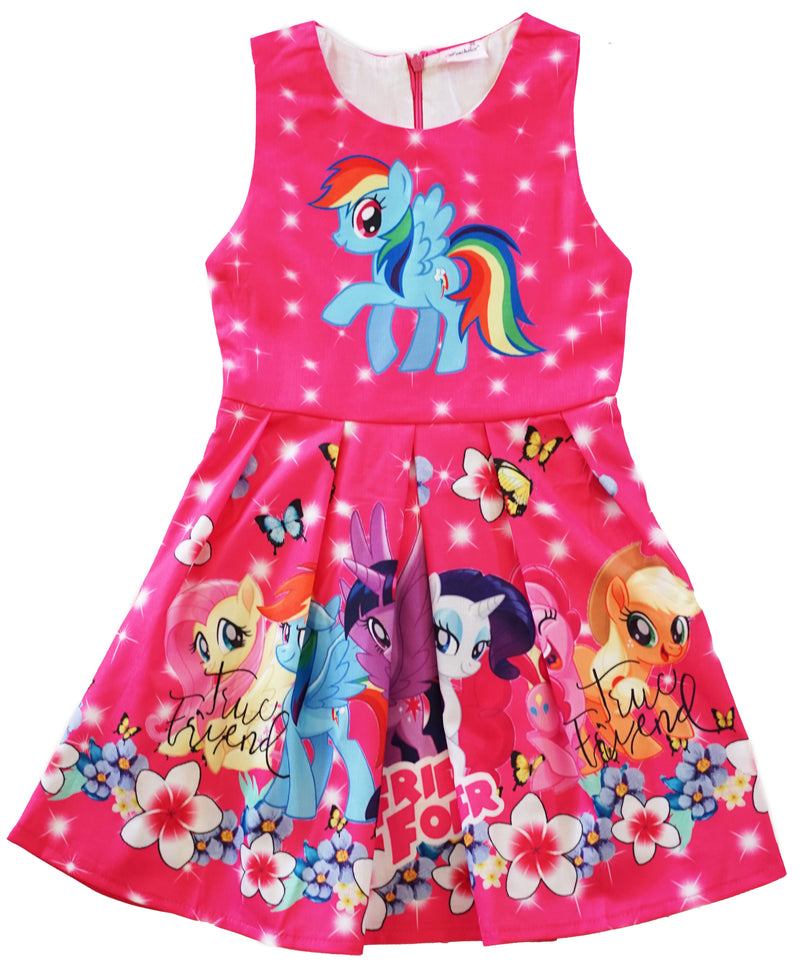 Hot Pink My Little Pony Friends Forever A-Line Cotton Dress
