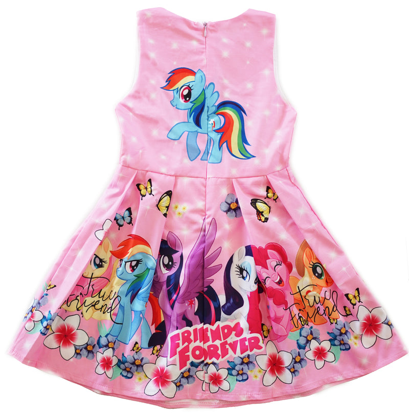 Pink My Little Pony Friends Forever A-Line Cotton Dress