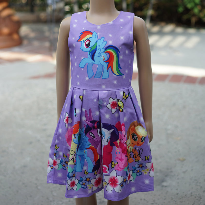 Lavender My Little Pony Friends Forever A-Line Cotton Dress