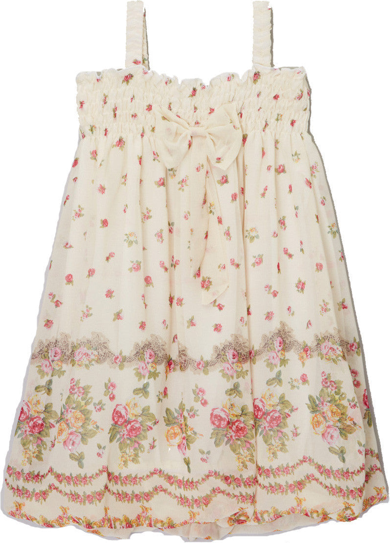Ivory Rose Chiffon Baby Doll Dress