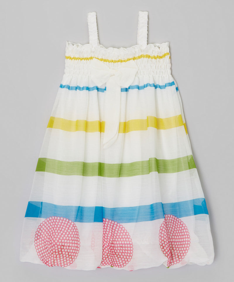 Color Line Chiffon Baby Doll Dress
