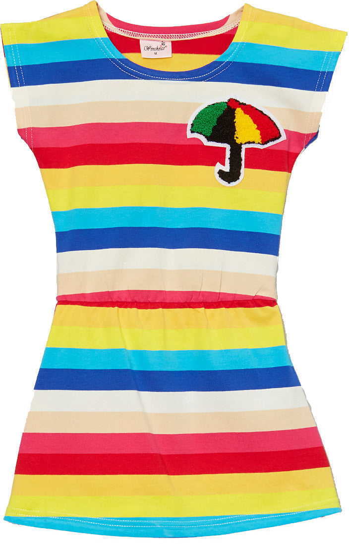 Rainbow Umbrella Polo Dress