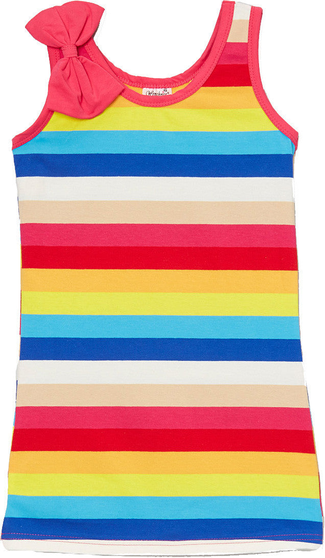 Rainbow Bow Cotton Dress
