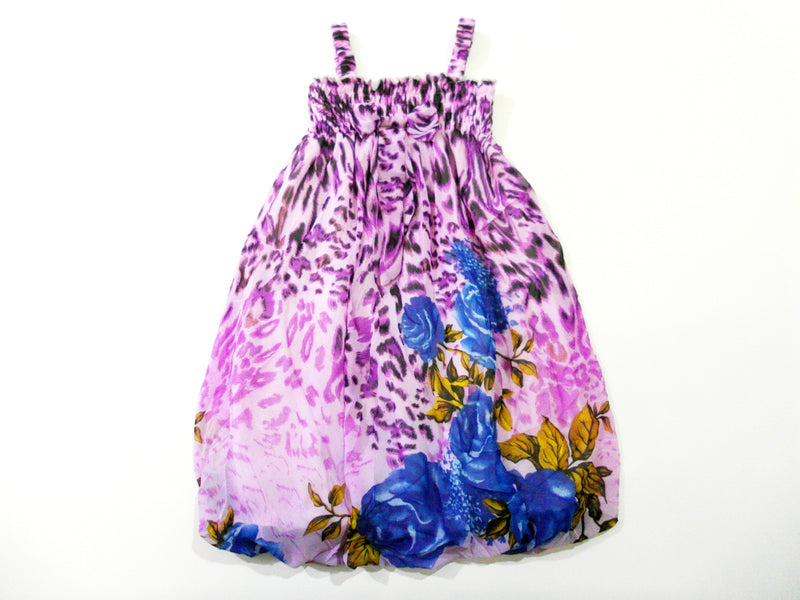 Purple Rose Chiffon Baby Doll Dress