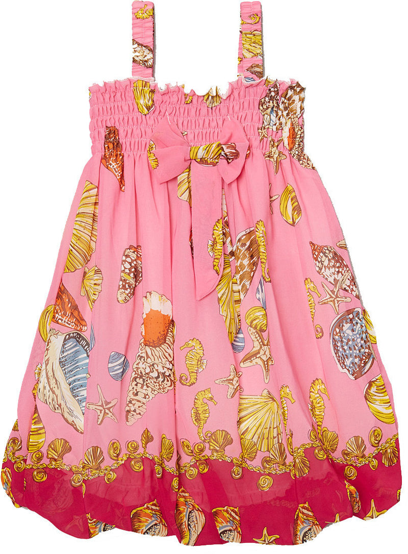 Pink Shellfish Chiffon Baby Doll Dress