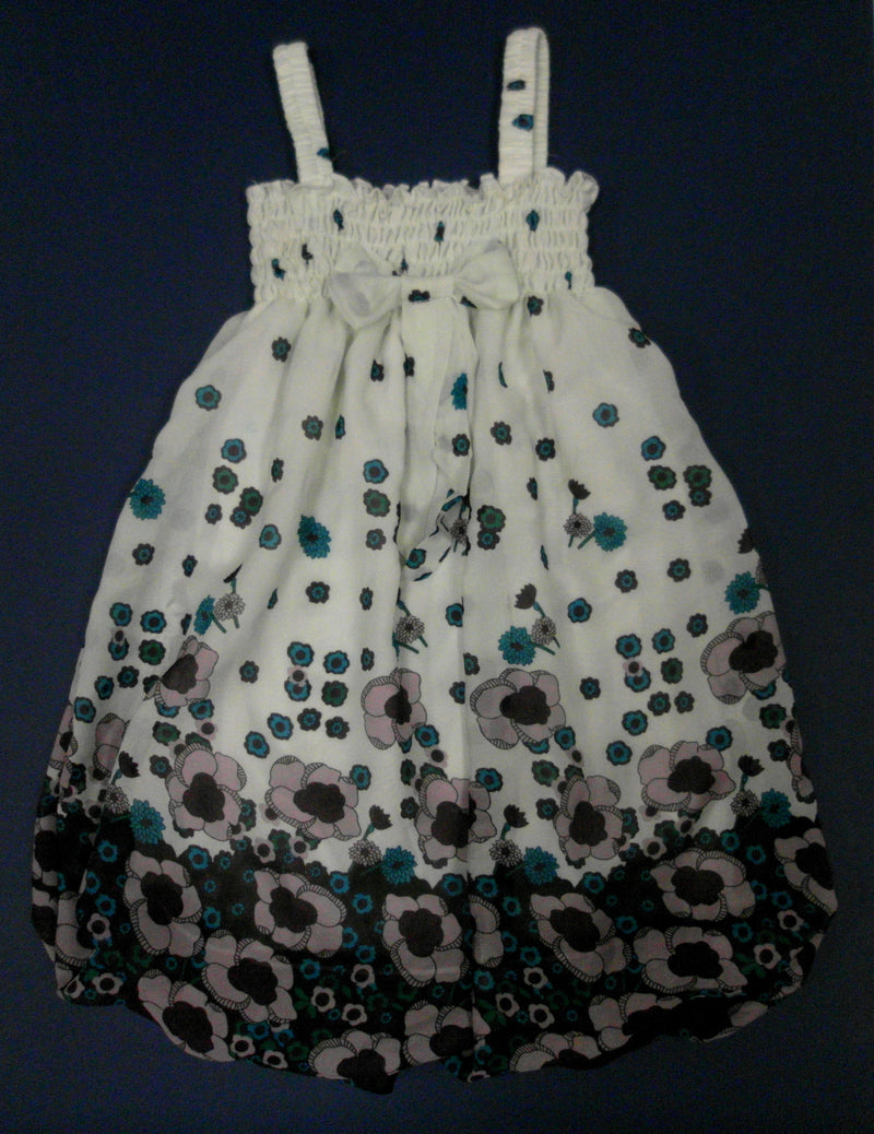 Flowers Chiffon Baby Doll Dress
