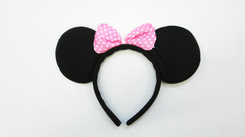 Black Pink Bow Ear (Pack 12pcs)