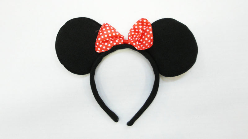 Black Red Bow Ear (Pack 12pcs)