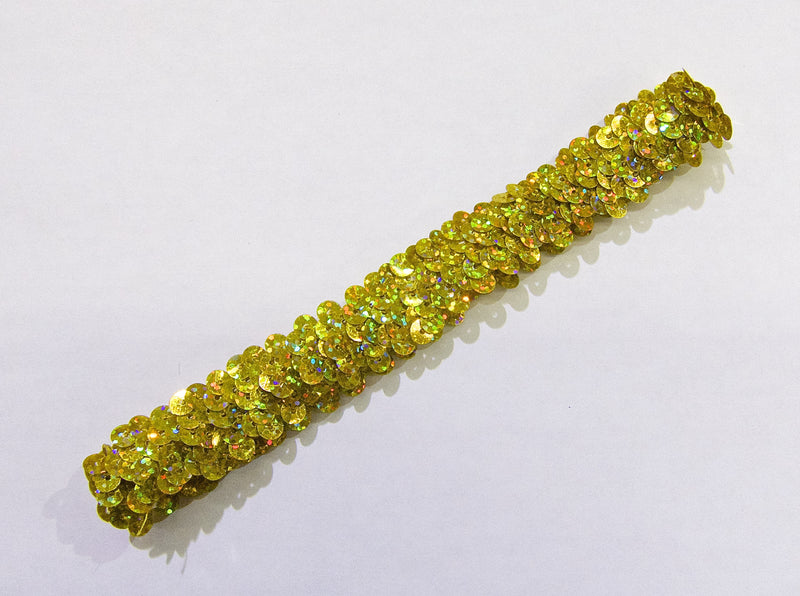 Gold Double Sequin Elastic Headband