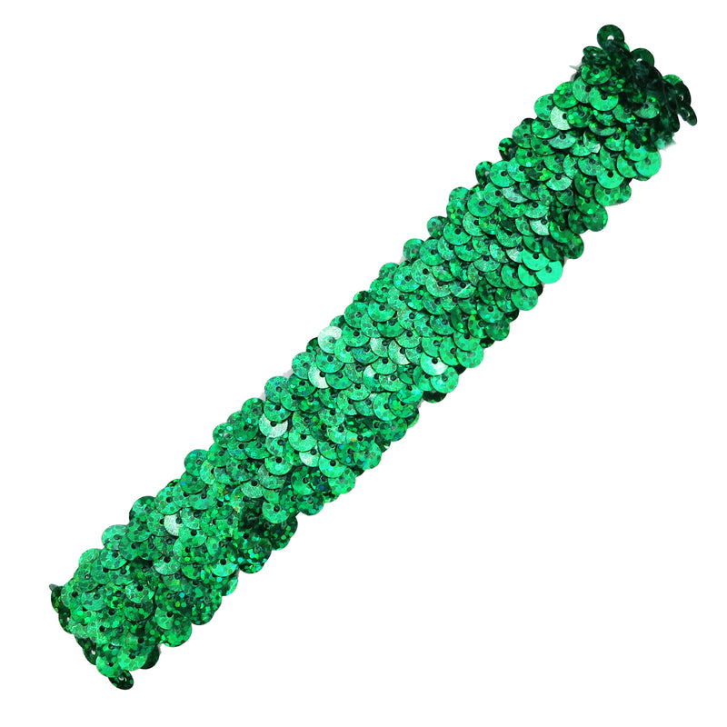 Green Triple Sequins Elastic Headband