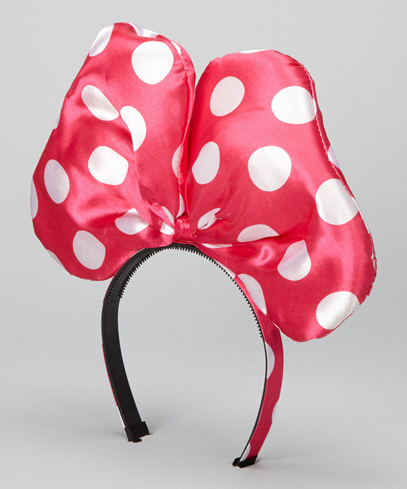 Hot Pink White Dot Giant Bow