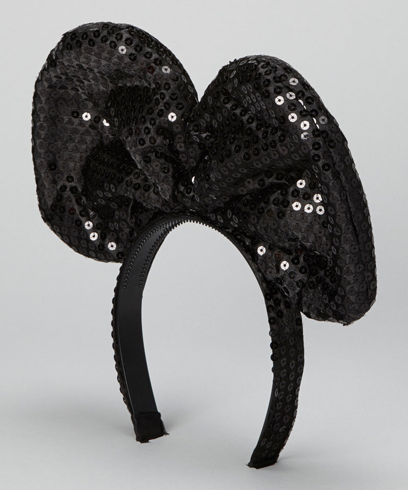 Black Sequin Giant Bow