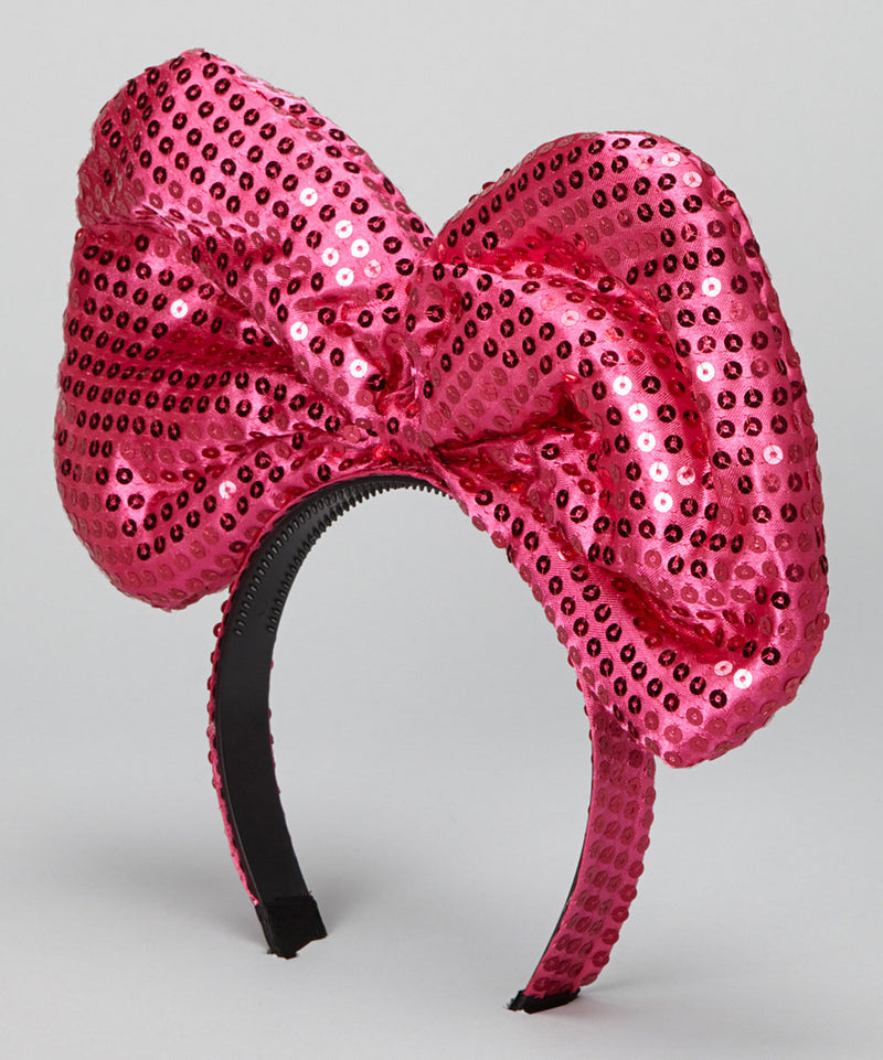 Hot Pink Sequin Giant Bow