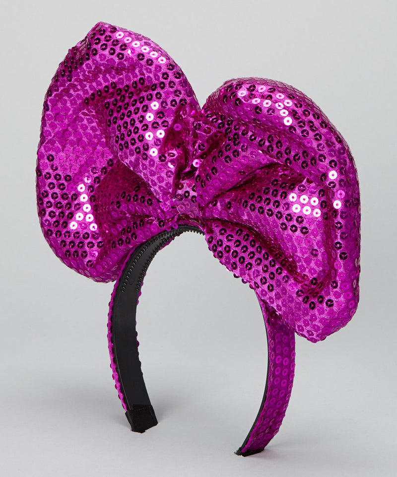 Purple Sequin Giant Bow