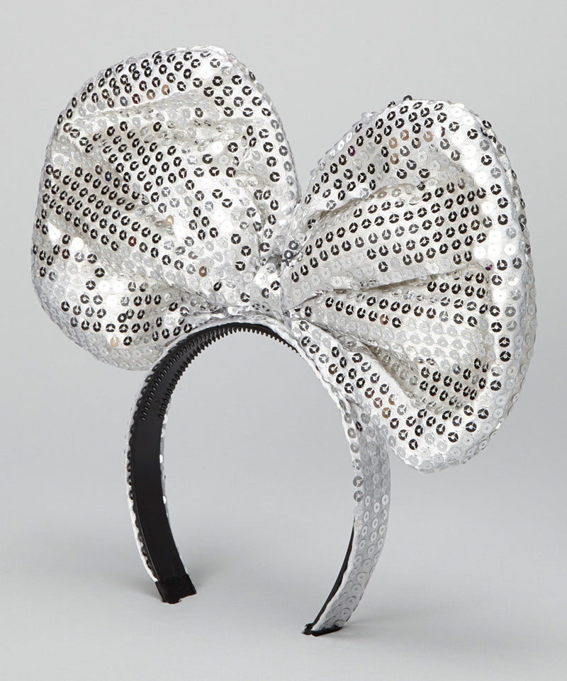 Silver Sequin Giant Bow