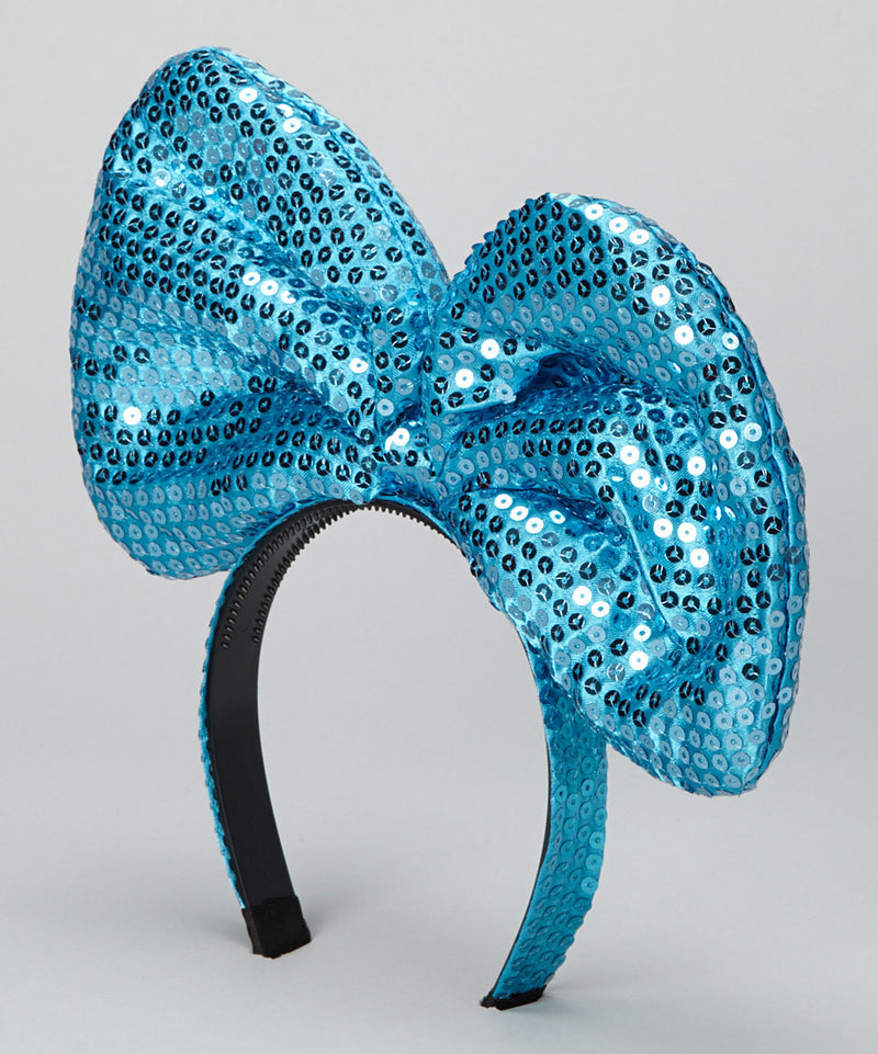 Turquoise Sequin Giant Bow