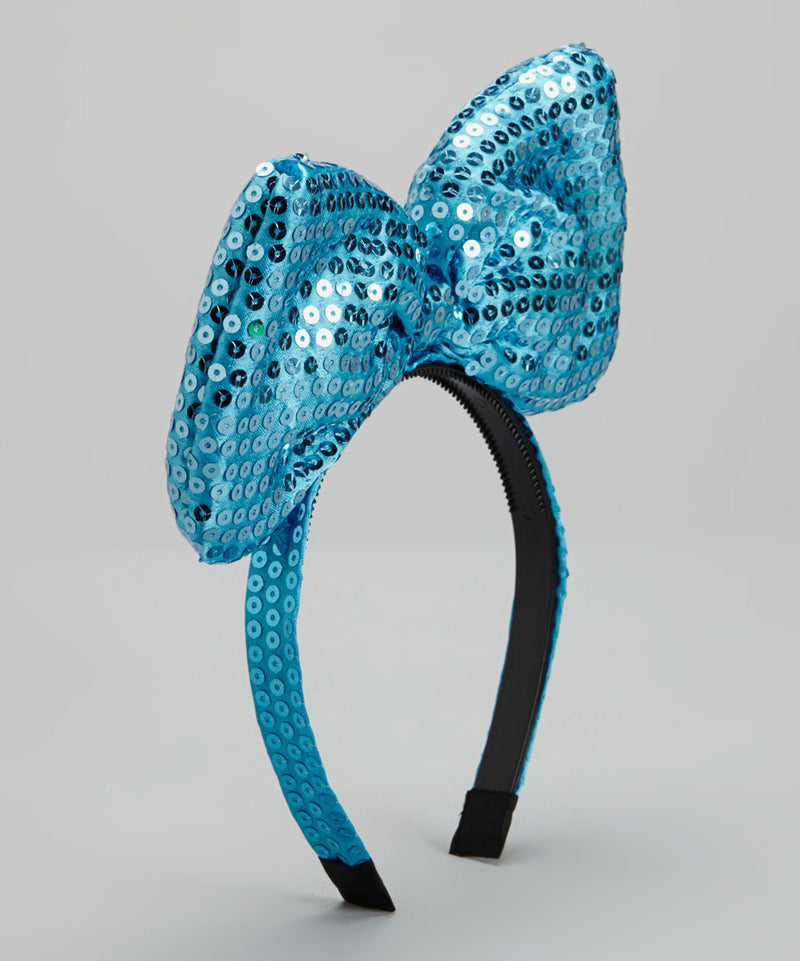 Turquoise Sequin Big Bow