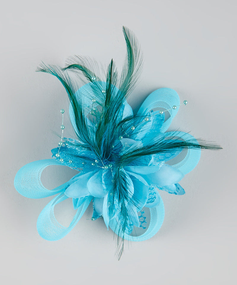 Colors Feather Flower Bow
